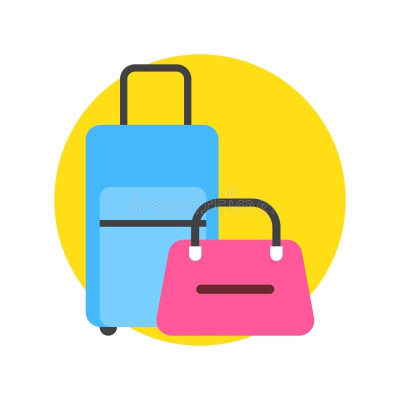 Bagaż ikony toreb I walizek podróży bagaż ilustracji
