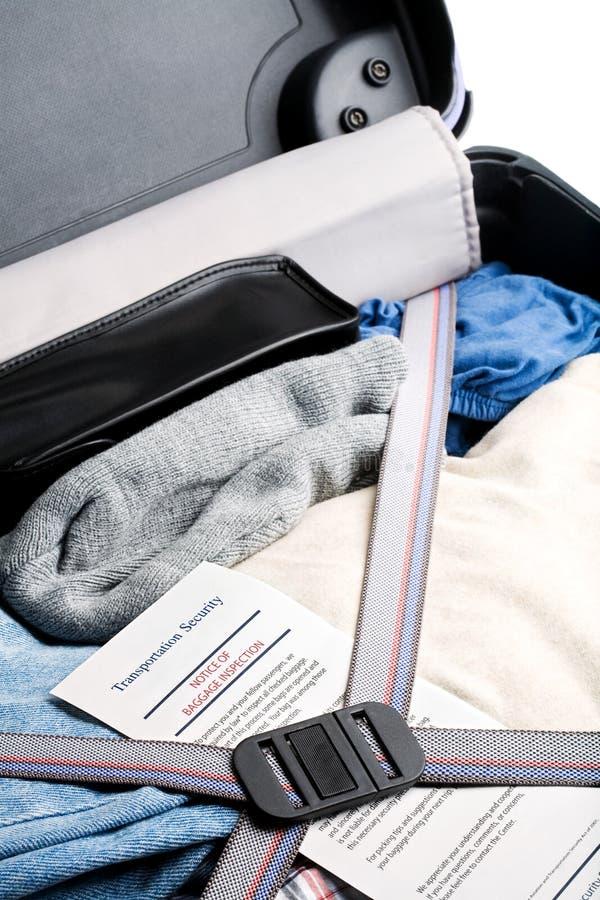 bagaż lotniskowa wizytacyjna ochrona zdjęcia stock