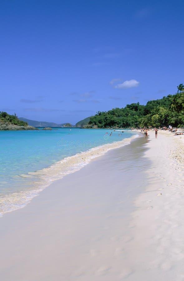 Bagażnik zatoka, St John, USA Dziewicze wyspy, Karaiby fotografia stock