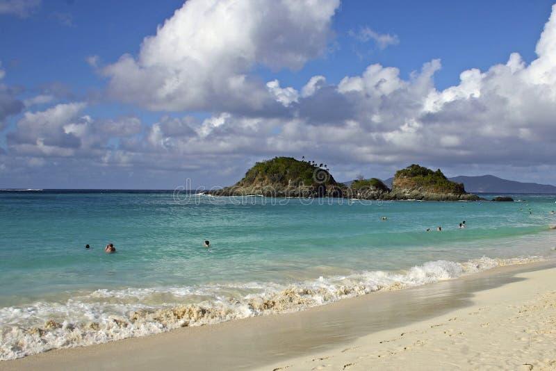 Bagażnik zatoka w St John, Karaiby zdjęcie stock