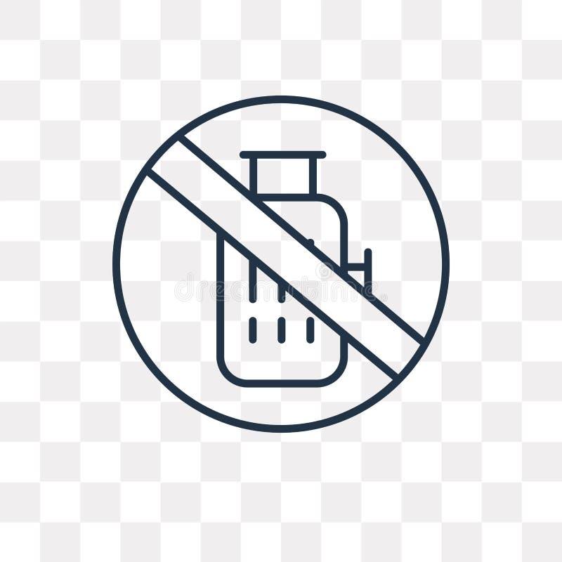 Bagażowa wektorowa ikona odizolowywająca na przejrzystym tle, liniowy b ilustracja wektor