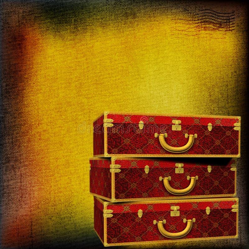 bagażu podróży rocznik ilustracji