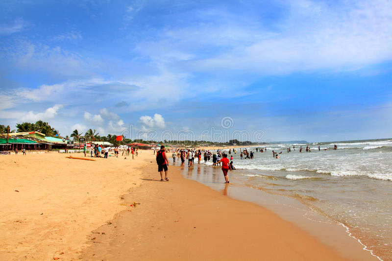 Baga beach stock photo