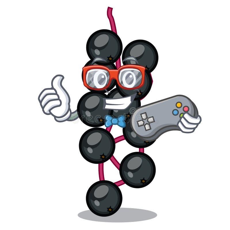 Baga de sabugueiro do Gamer na forma da mascote ilustração stock