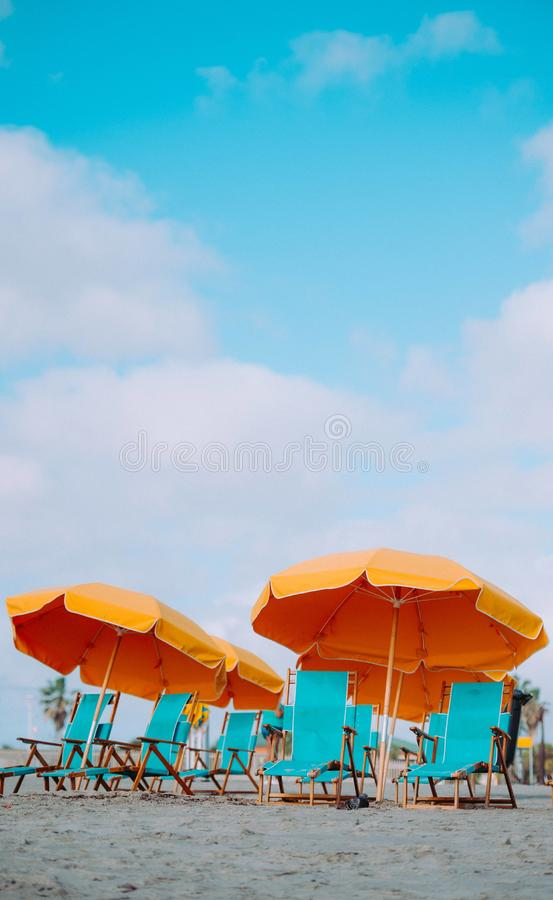 Baga strand i Goa, Indien arkivbilder
