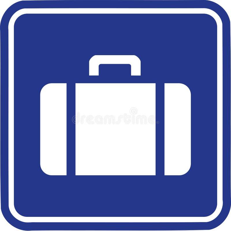Bagage de bouton de valise illustration de vecteur