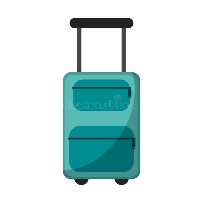 Bagage de voyage avec des roues illustration libre de droits