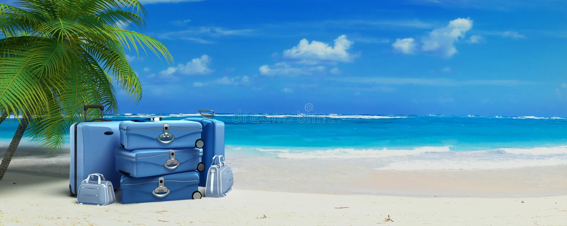 Bagage des vacances photo stock