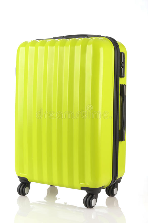 Bagage die uit grote die koffersrugzakken en reiszak bestaan op wit worden geïsoleerd royalty-vrije stock fotografie