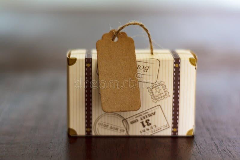 Bagage met markeringsetiket royalty-vrije stock foto's