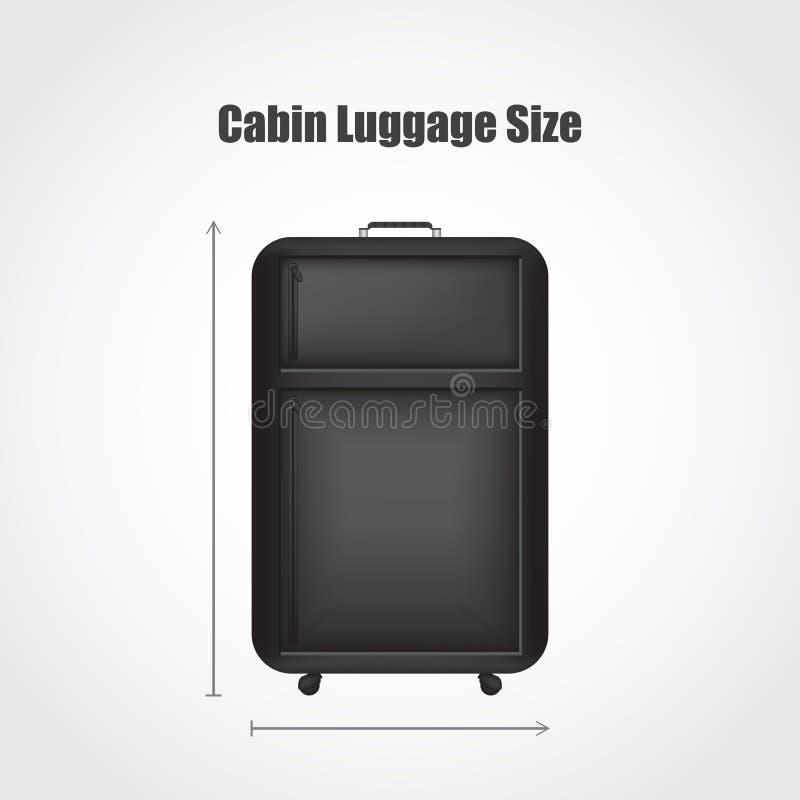 Bagage noir spécial de voyage illustration de vecteur