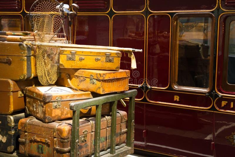 Bagage op het Platform royalty-vrije stock foto