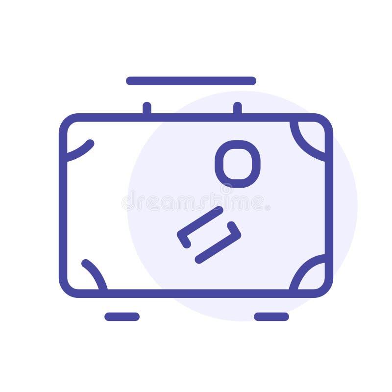 Bagage, valise, ligne icône de sac de voyage Signe de Web de vecteur, bouton illustration libre de droits