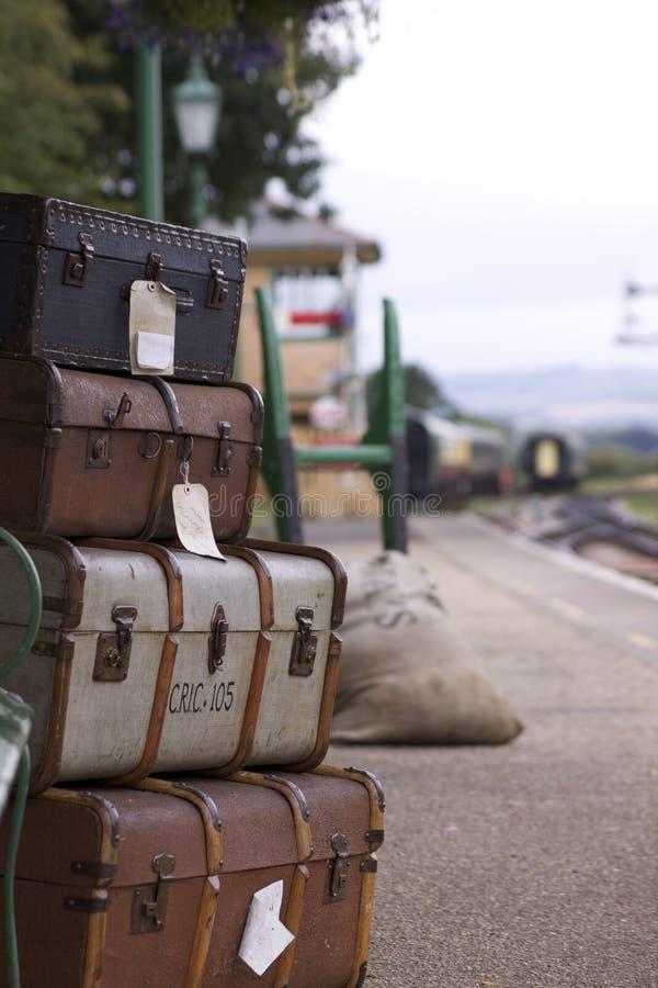 bagagejärnväg royaltyfri bild