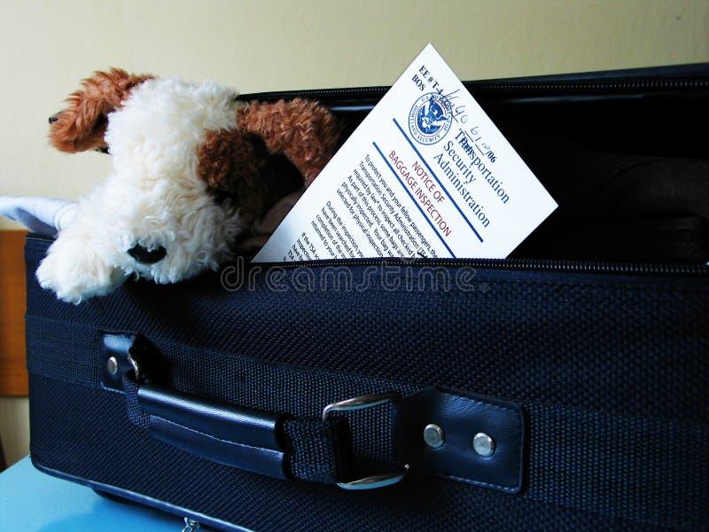 bagagekontrollmeddelande royaltyfri fotografi