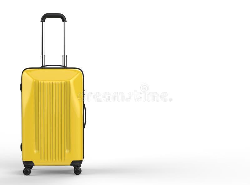 Bagagem dura amarela do caso ilustração royalty free