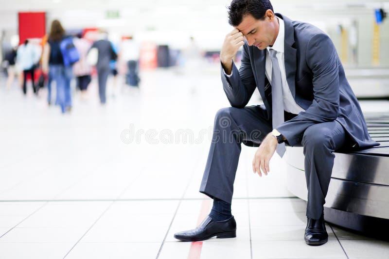 Bagagem perdida no aeroporto imagem de stock royalty free