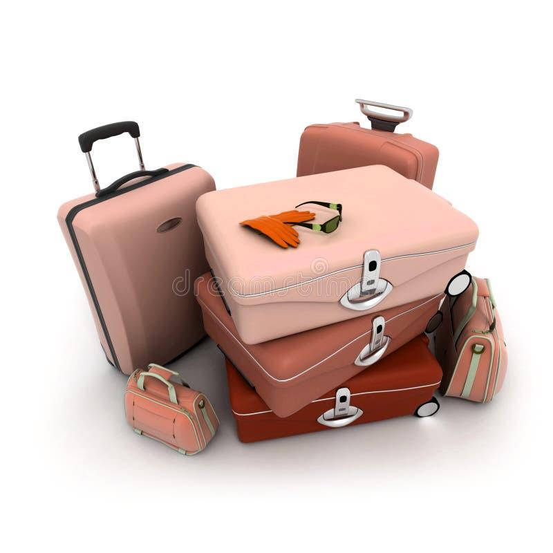 Bagages élégants illustration de vecteur