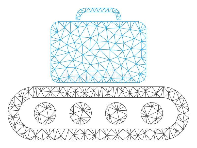 Bagagetransportband Vectormesh wire frame model royalty-vrije illustratie