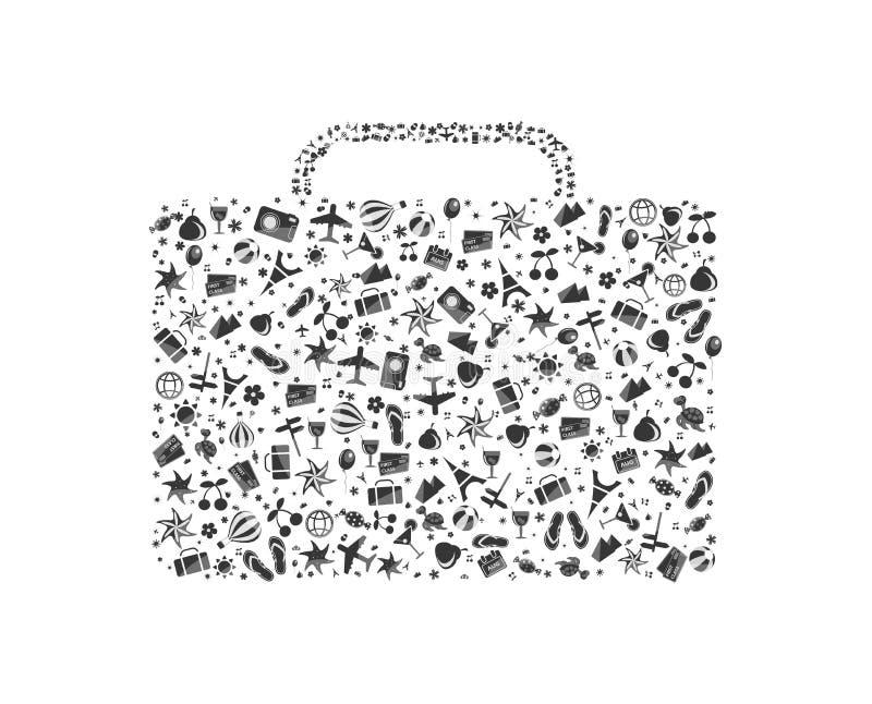 Bagagli In Bianco E Nero Composti Fotografie Stock