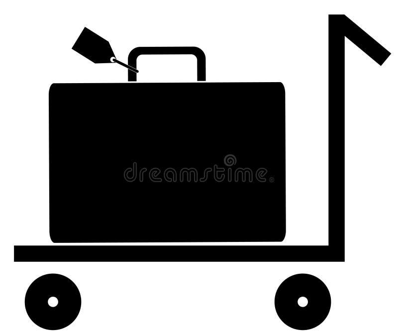 Bagagli sul carrello di spinta royalty illustrazione gratis