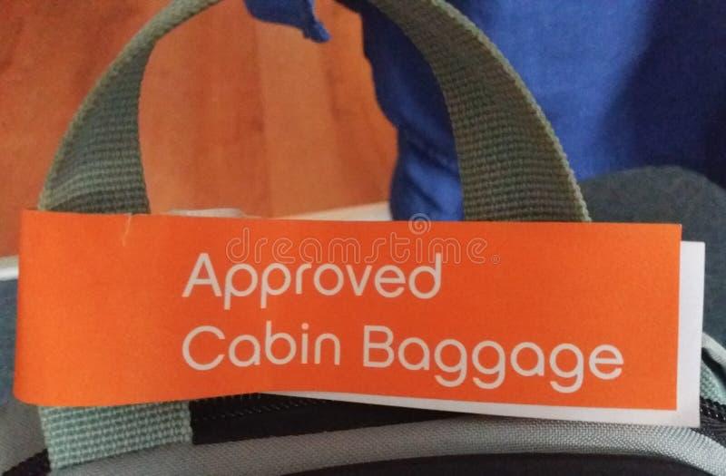 Bagaglio di cabina approvato fotografia stock