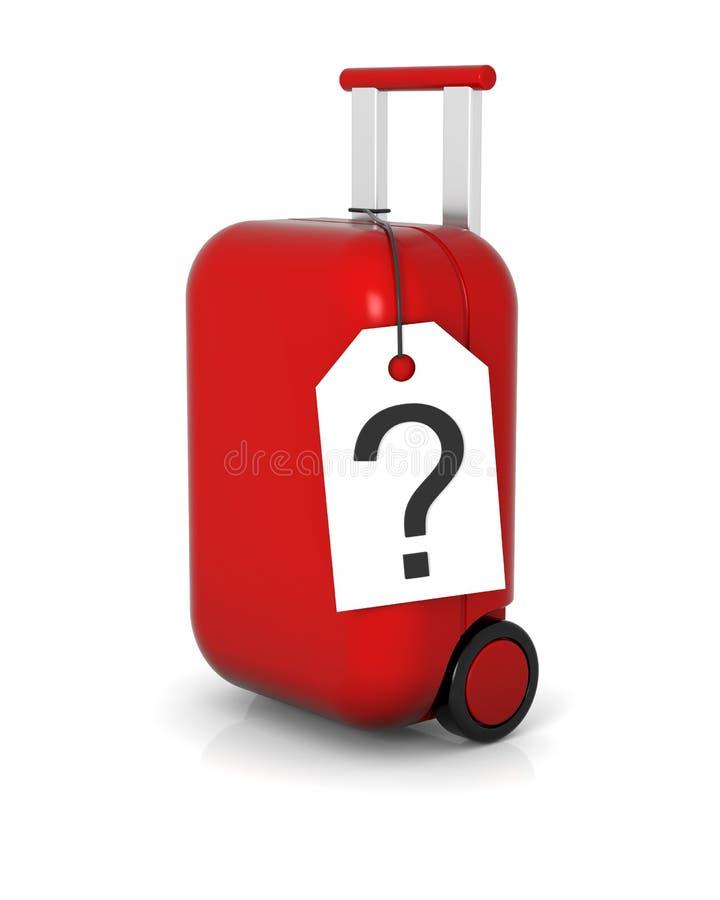 bagaglio perso illustrazione vettoriale