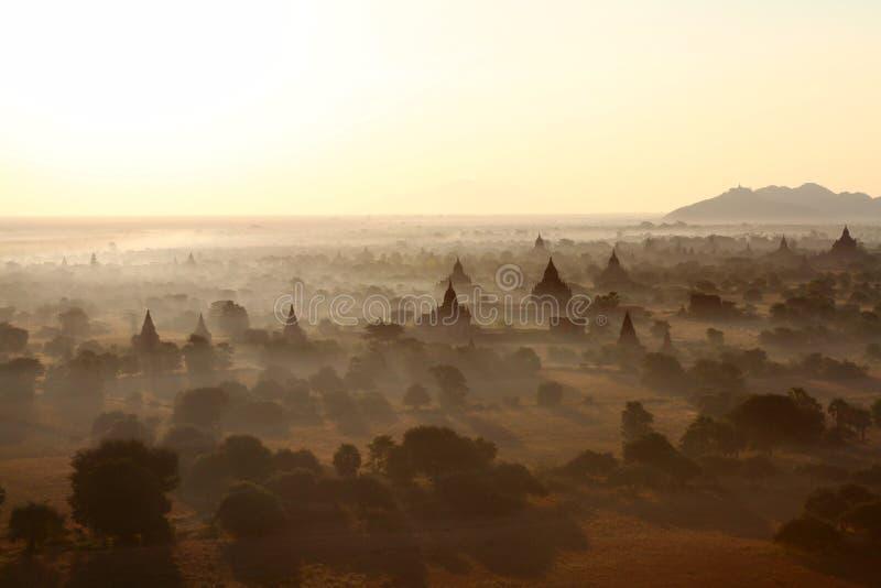 bagan缅甸日出 图库摄影