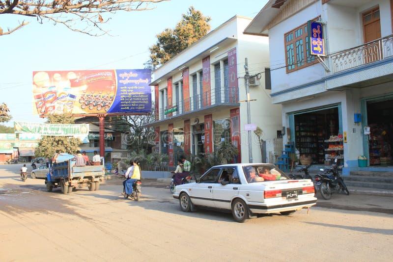 Bagan缅甸街道视图 免版税库存照片