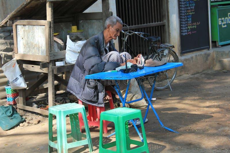 Bagan缅甸街道视图 免版税库存图片