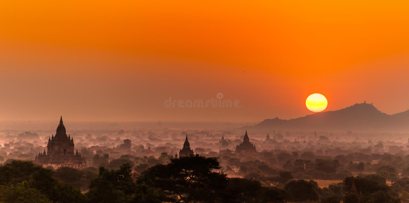 bagan缅甸 图库摄影