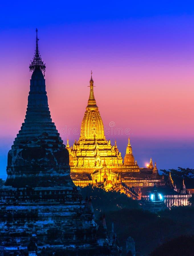 Bagan,缅甸。 库存图片