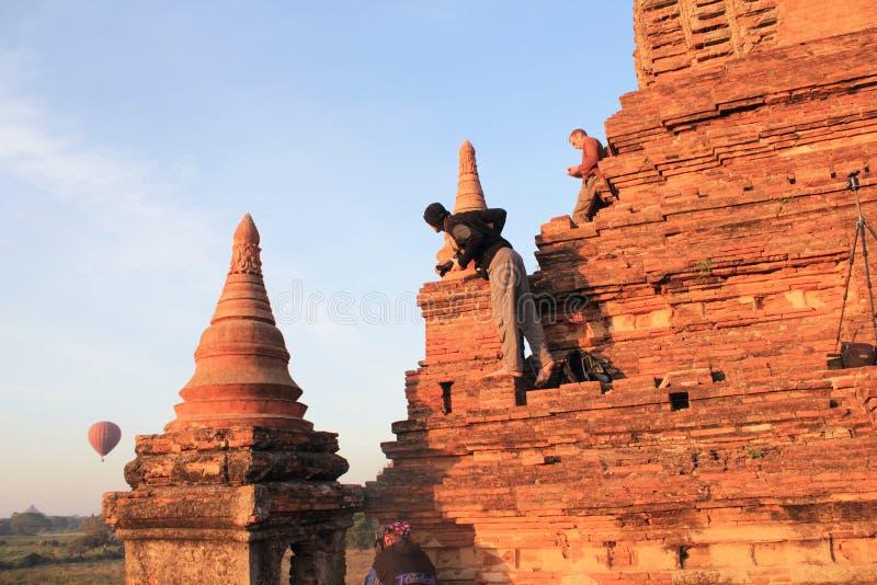 bagan ναοί ανατολής της Myanmar στοκ εικόνα