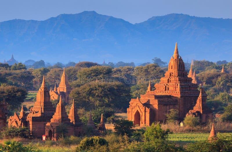bagan ναοί ηλιοβασιλέματος τ στοκ φωτογραφία με δικαίωμα ελεύθερης χρήσης