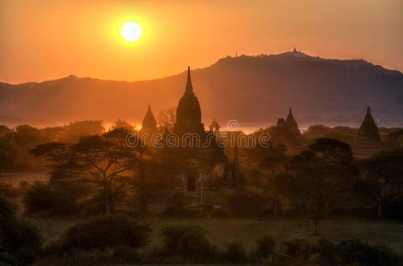 bagan ναοί της Myanmar στοκ εικόνα