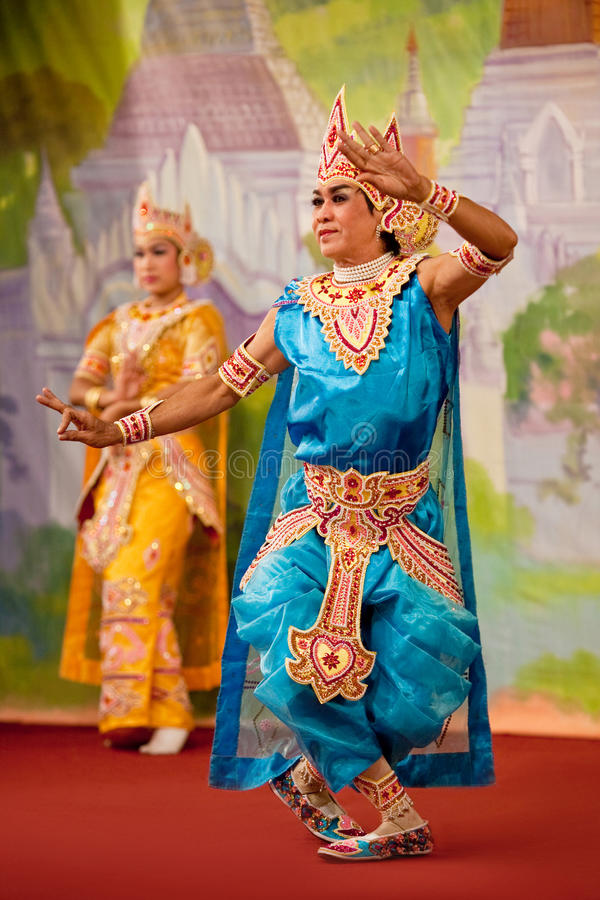 bagan χορός Myanmar στοκ φωτογραφία με δικαίωμα ελεύθερης χρήσης