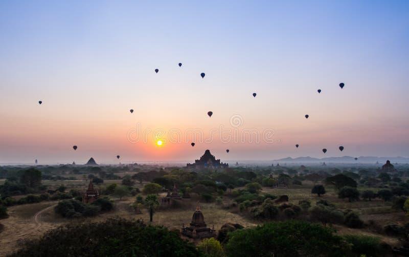 bagan восход солнца стоковая фотография rf