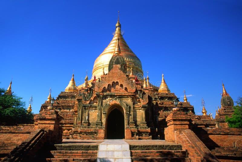 bagan красивейший висок myanmar стоковые фотографии rf
