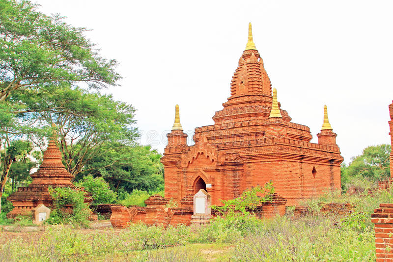 Bagan Archaeological Area Myanmar royaltyfri fotografi