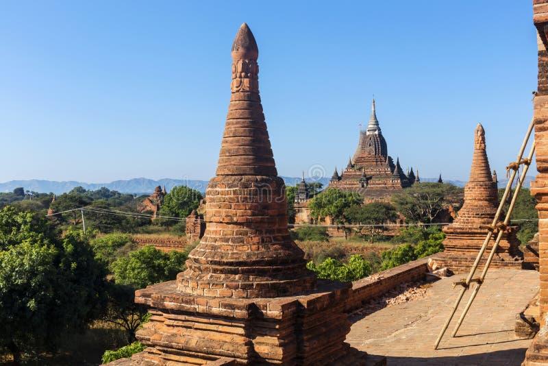 Bagan buddha torn på dagen royaltyfri bild