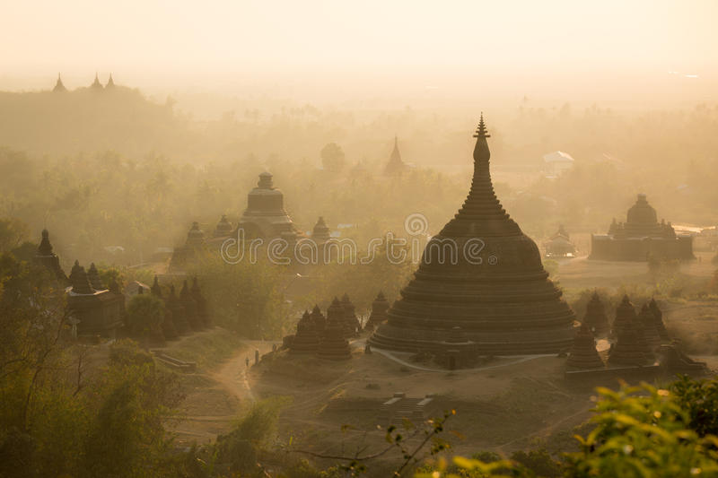 Bagan, a city of a thousand temples. royalty free stock images