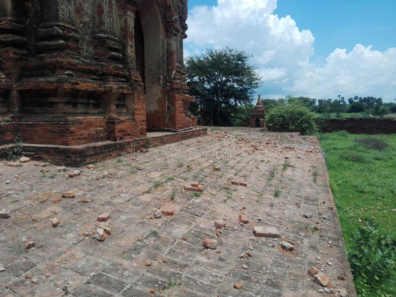 Bagan Earthquake 2016 imagens de stock royalty free