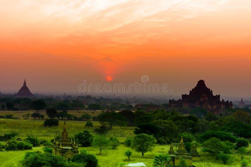 Bagan fue nombrado la ciudad de la pagoda del mar, Birmania foto de archivo libre de regalías
