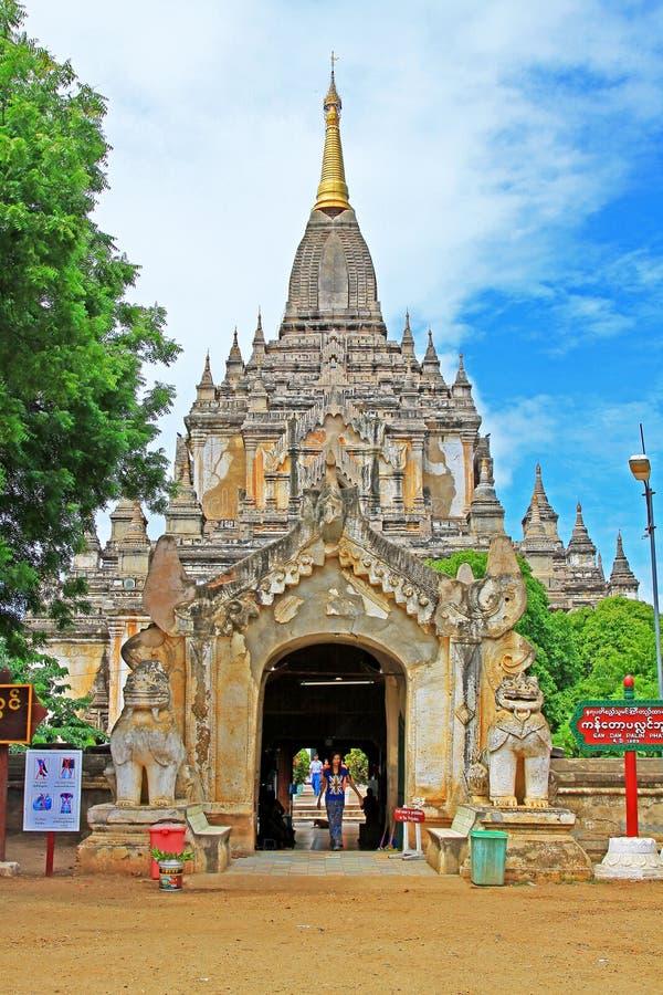 Bagan Gawdawpalin寺庙,缅甸 库存照片