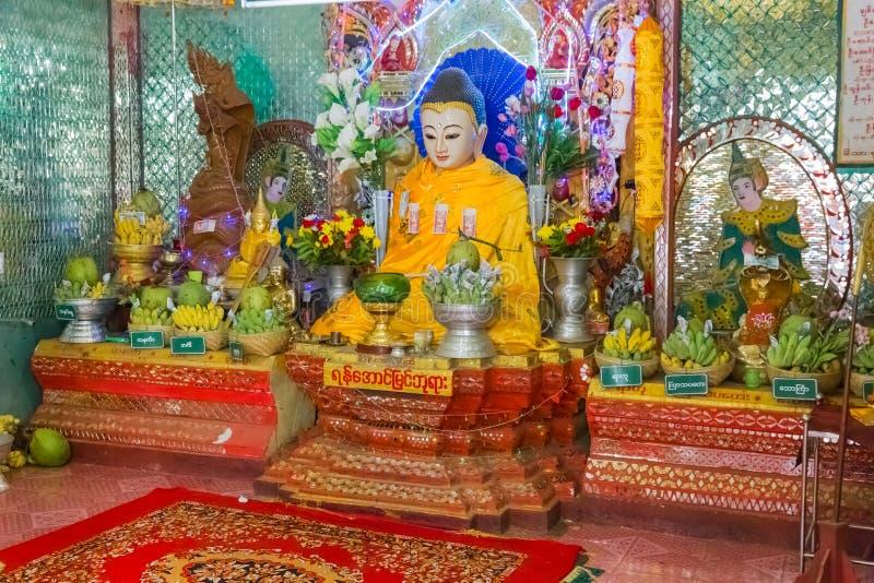 Popa Taungkalat monastery at Mount Popa, Myanmar stock image