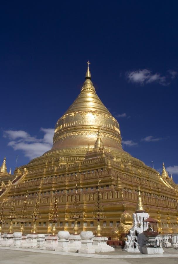 bagan pagodain shwezigon 免版税图库摄影