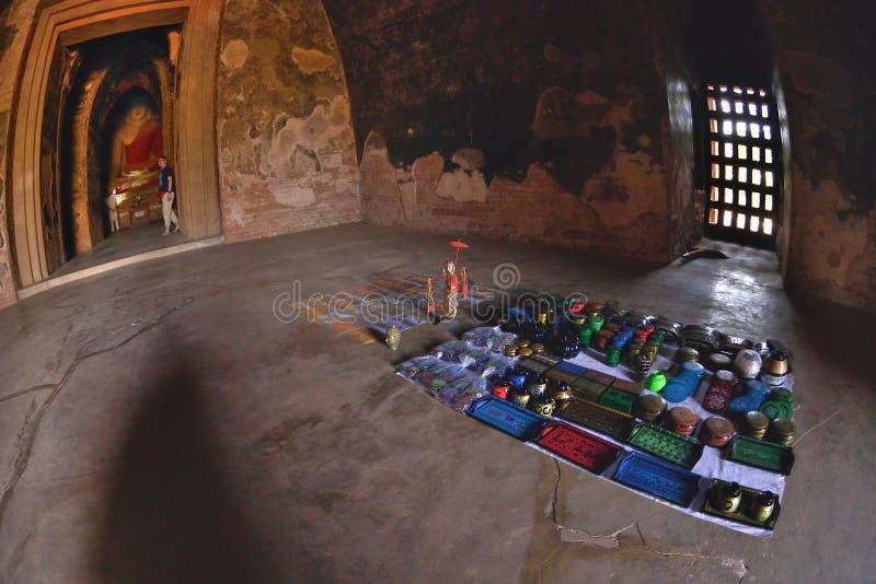 Bagan Pahto Thamya Pagoda buddha que vende a cabine fotos de stock