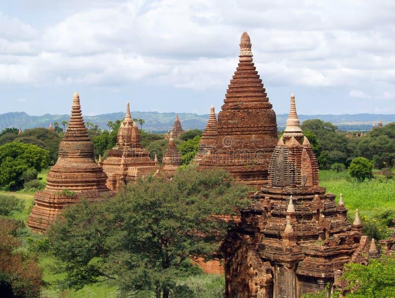 Bagan Panorama der buddhistischen Tempel stockfoto