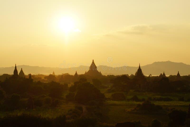 Bagan przed zmierzchem, Birma, Azja obrazy royalty free