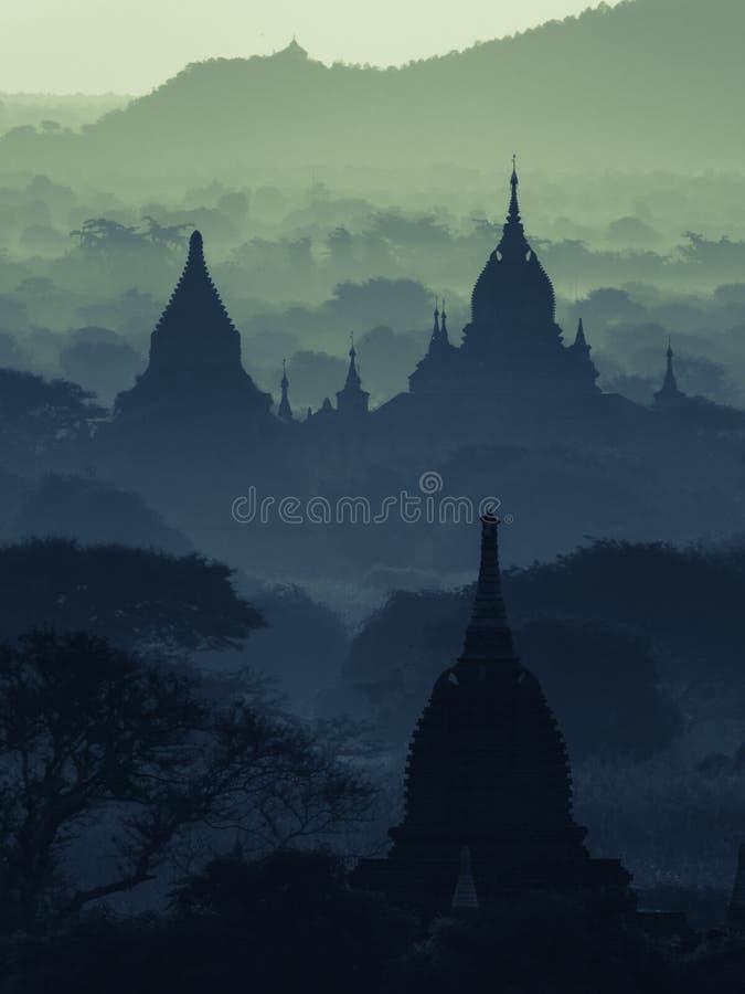 Bagan Silhouette photographie stock libre de droits
